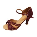 Fabric Heels Sandals Latin Ballroom Dance Shoes With Bowknot (053013000)