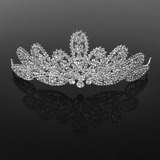Tiaras Special Occasion Rhinestone Silver Headpieces With Clear (042019225)