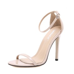 Women's Leatherette Stiletto Heel Sandals Peep Toe With Buckle shoes