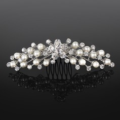 Diademi Matrimonio Occasioni speciali strass Argento Copricapo con Trasparente (042019254)
