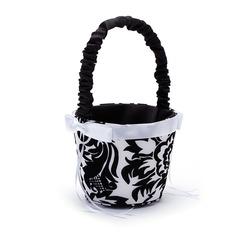 Nizza Flower Basket sisään Satiini jossa Kirjonta