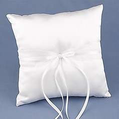 Ring Pillow In White Satin With Sash And Ribbons(103018358)