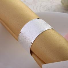 Vilkkuva hopea servettirenkaat