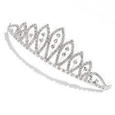 elegant rhinestone tiara / Hodepynt