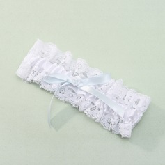 Lace With Pearl/Bowknot Wedding Garter (104019498)