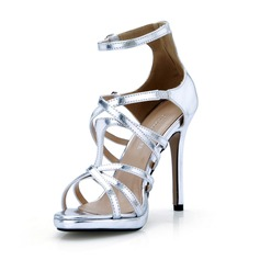 Patent Leather Stiletto Heel Sandalen Pumps met Gesp schoenen
