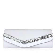 Gorgeous Satin With Sequin Clutches