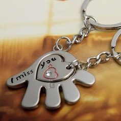"""Classic """"Miss You"""" Zinc alloy Keychains (set of 4 pairs)"""