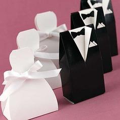 la novia y el novio Cajas de regalos con Cintas (Juego de 6 Pares)