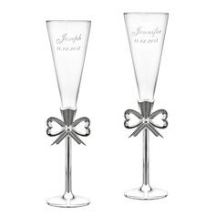 Personlig Glass/Aluminium Skåle Glass Sett (Sett med 2)