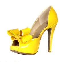Patent Leather Stiletto Heel Sandals Platform Peep Toe With Bowknot shoes