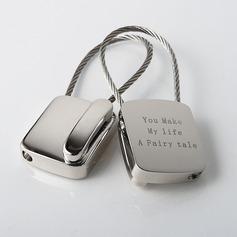 Personalized Telephone Zinc Alloy Keychains (Set of 4)