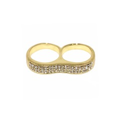 Skinner Legering med Rhinestone Damene ' Fashion Rings
