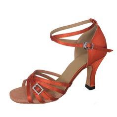 De mujer Satén Tacones Sandalias Danza latina con Tira de tobillo Lentejuelas Zapatos de danza