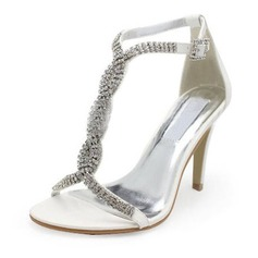Kunstlr Stiletto Hl Pumps Sandaler Brudesko med Spenne Rhinestone (047005860)