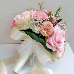 Attractive Seda artificiais Buquês de noiva -