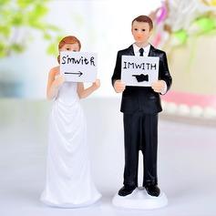 """""""Jag är med henne/honom"""" Harts Bröllop Tårtdekoration"""