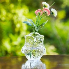 Eulen entwurf Glas Vase