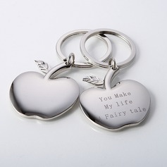 "Personalized ""Apple of My Eye"" Zinc Alloy (Set of 4)"
