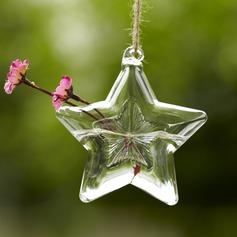 звездочный дизайн стекло ваза