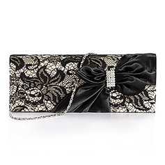 Gorgeous Nylon Clutches With Lace (More Colors) (012025170)