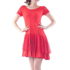 Women's Dancewear Polyester Latin Dance Dresses