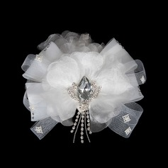 Classic Crystal Chiffon Tulle Flowers