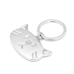 "Personalized ""Cute Cats"" Zinc Alloy Keychains"