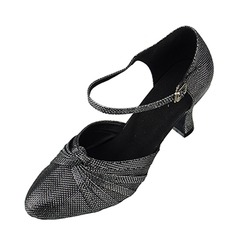 De mujer Brillo Chispeante Tacones Salón Moderno con Tira de tobillo Zapatos de danza