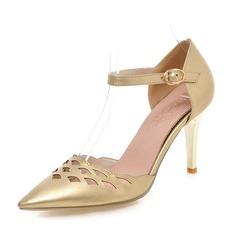 Donna Similpelle Tacco a spillo Stiletto Punta chiusa con Cava-out scarpe