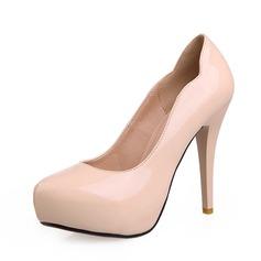 Lackleder Kegel Absatz Absatzschuhe Plateauschuh Schuhe