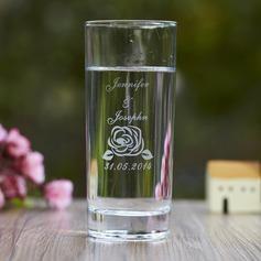 Personalizado Diseño de la flor Vidrio Taza