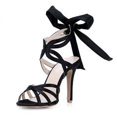raso di seta come Tacco a spillo Sandalo Stiletto con Archetto scarpe