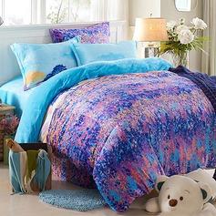 Traditional/Classic Flannel Comforters (4pcs :1 Duvet Cover 1 Flat Sheet 2 Shams)
