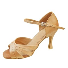 Satin Heels Latin Dance Shoes (053009730)