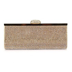Unique Polyester with Crystals Evening Handbag/Clutches(More Colors) (012025167)