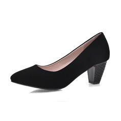 Camoscio Tacco spesso Stiletto Punta chiusa scarpe
