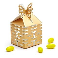 Felicidad Doble Recorte Cubic Cajas de regalos (Juego de 12)