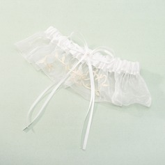Polyester With Satin Ribbons Wedding Garters (104019501)