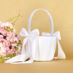 Puhdas Flower Basket sisään Satiini jossa Keula