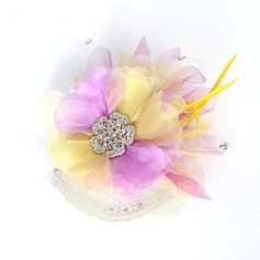 Underbara Netto garn och silke blomma/Fjäder Blommor