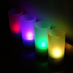 Color changing Glittering LED Lights Candle (set of 4)