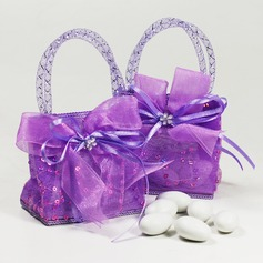 Handtas vormige Bedank Tassen met Linten (Set van 12)