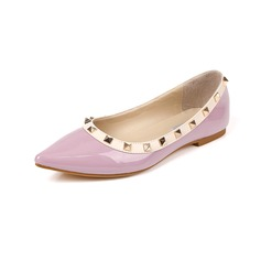 Женщины кожа Плоский каблук На плокой подошве Закрытый мыс с заклепки обувь