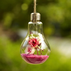 Hängende Glühlampe Glas Vase