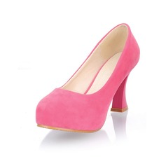 Suede Kitten Heel Platform Pumps (085025202)
