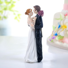 Brud og Brudgom Resin Bryllup Kage Topper