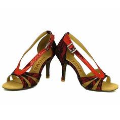 De mujer Encaje Tacones Sandalias Danza latina Salsa Fiesta con Tira de tobillo Agujereado Zapatos de danza