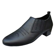 Men's Real Leather Heels Latin Ballroom Dance Shoes