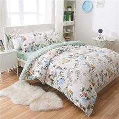 Country Modern/Contemporary Cotton Comforters (4pcs :1 Duvet Cover 1 Flat Sheet 2 Shams)